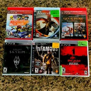 PS3 games lot (6 games included)